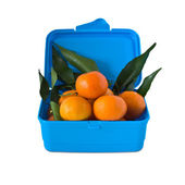Box of tangerines. — Stock Photo