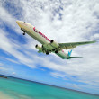 Caribbean Airlines Boeing 737 - Stock Photo