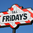 T.G.I. Friday's Sign — Stock Photo