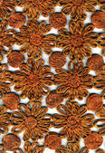 Rough Woven Fabric Material - Floral Pattern — Stock Photo