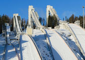 Ski jumping hill — Stock Photo