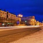 Street of a night city — Stock Photo
