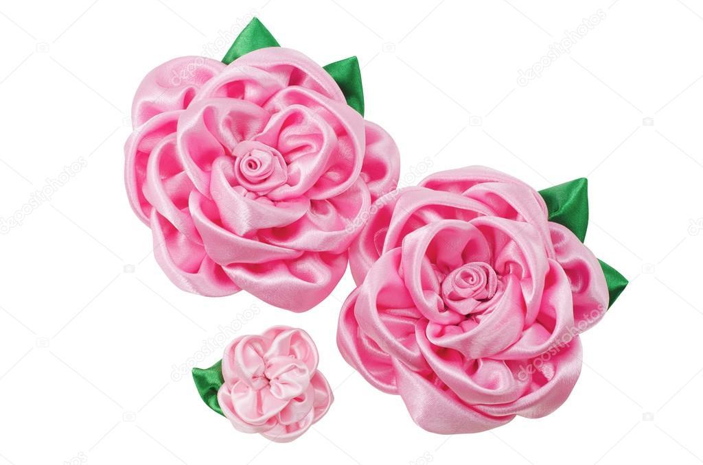 beautiful artificial flowers of handwork