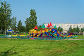Playground in a summer park — Стоковое фото