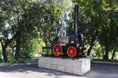 Model of the first Russian steam locomotive — Stock Photo