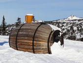 The big  barrel at mountain top — Stock Photo