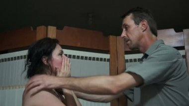 Domestic Violence Between Couples — Stock Video