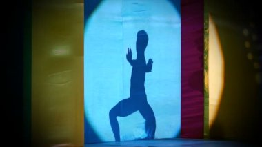 Silueta del bailarín — Vídeo de Stock