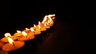 Long Line of Candles Dolly — Stock Video