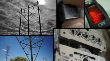Electrical Energy Collage — Stock Video