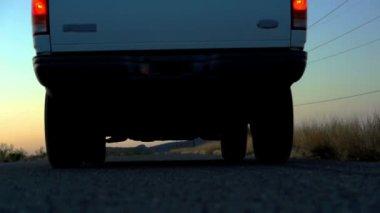 Run Over By Truck Going — Vídeo de Stock