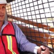 Industrial Male Worker On Skidsteer — Stock Video #45159129