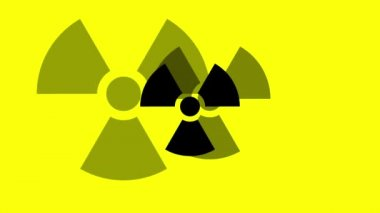 Pulsing Radiation Symbol — Stock Video