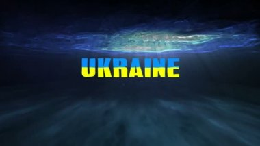 Underwater Bankrupt Ukraine — Stock Video