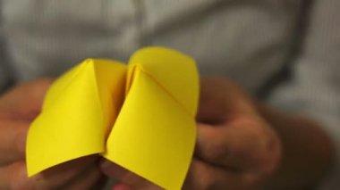 Origami Spiel Rabatt 30 — Stockvideo