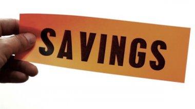 Cutting Savings Concept — Stock Video