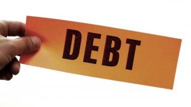 Cutting Debt Business Concept — Stock Video