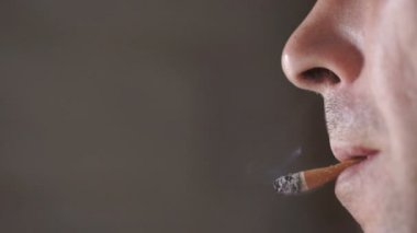 Flipping Cigarette Into Mouth — Stock Video