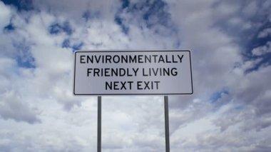 Environmentally Friendly Living Sign Timelapse — Stock Video
