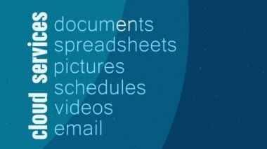 Cloud Services Kinetic Type — Stock Video