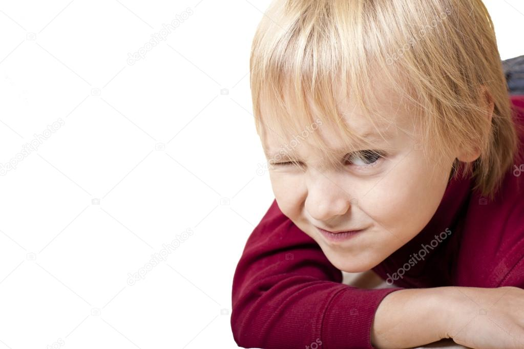 Four years old boy is looking at camera, isolated — Stock Photo #16287963