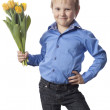 Boy with flower — Stock Photo #22119629