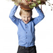 Boy with flower — Stock Photo #22119907