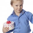 Boy with present — Stock Photo #22120345