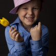 Boy with hat and flower — Stock Photo #22120821