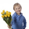 Boy with flower — Stock Photo #22221743