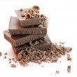 Chocolate pieces over white — Stock Photo #13253151