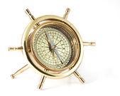 Bússola de ouro velha — Foto Stock