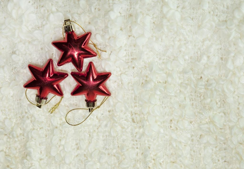 Three christmas red stars on the white background — Stock Photo #16812559
