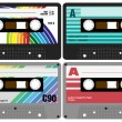 Audio Cassette Tapes — Stock Vector