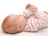 Eating Baby Girl — Stock Photo
