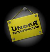 Em reconstrução - tabuleta plexi — Vetorial Stock