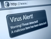 Alerta de virus — Foto de Stock