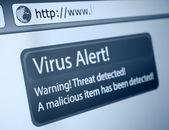 Viruswarnung — Stockfoto