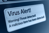 Virus Alert — Stock Photo