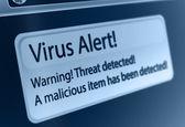 Alerta de vírus — Foto Stock