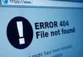 404 Error — Stock Photo