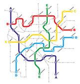 City Public Transport Scheme — Stock Vector