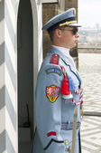 Guard, Prague Castle — Stock Photo