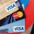 Stock Photo: Credit Cards and CD Compact Discs