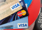 Credit Cards and CD Compact Discs — Stock Photo