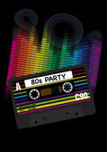 Vector 80s Party Background — Stock Vector