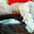 Stock Photo: Garter of bride