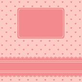 Valentines en bruiloft dag kaart — Stockvector