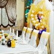 Banquet table in restaurant — Stock Photo #19924103