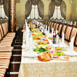 Stock Photo: Banquet table in restaurant